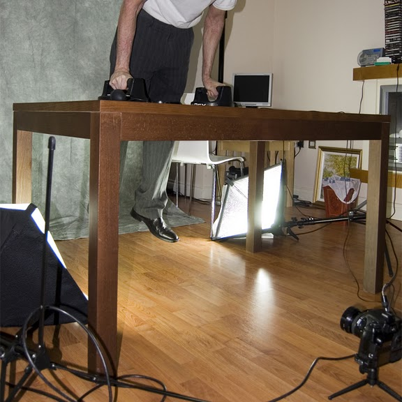 Behind the scenes of a hanging