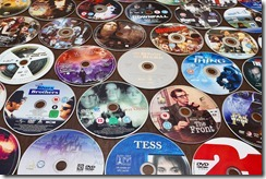 DVDs on a table