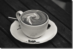 Artistic foamy cappuccino