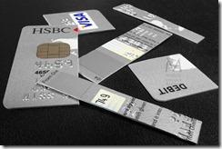 Shredded debit card