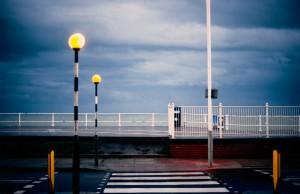 Stormy night. Hastings, England.  Nikon FM2n, Nikkor AF-D 50/1.4