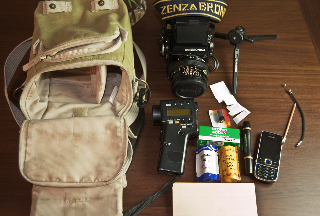 Medium-format as a light travel photography kit