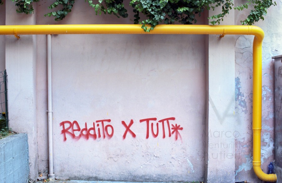 "This Italian graffiti says ""income for everybody"". June 2012"