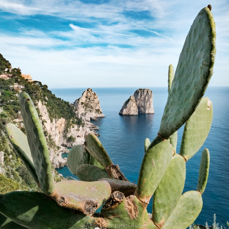 "The ""Faraglioni"" are a famous rocky formation, natural landmark of Capri, an island in the Bay of Naples. If you see this image, you immediately know where it was taken"