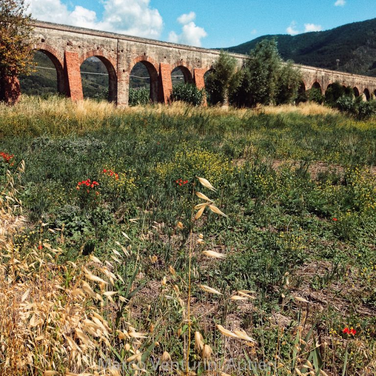 This is the aqueduct, from a vantage point that you can reach by foot or by bike — not by car