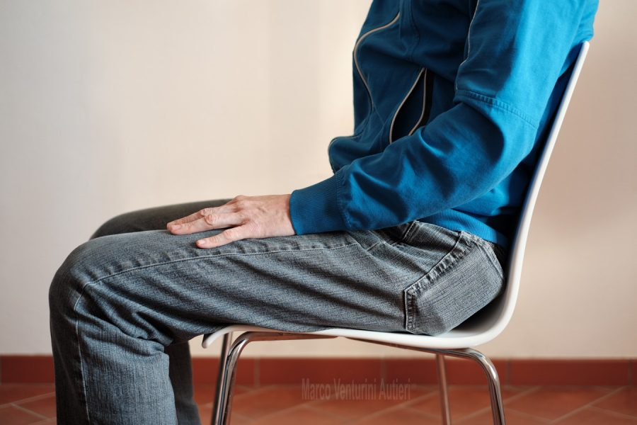 Sitting on a chair with the rear trousers pocket uncomfortably full, bulging out of the body shape. Why not using trousers with pockets alongside the legs?