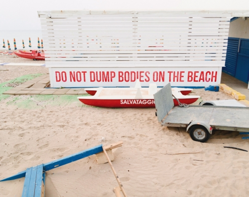 do not dump bodies on the beach
