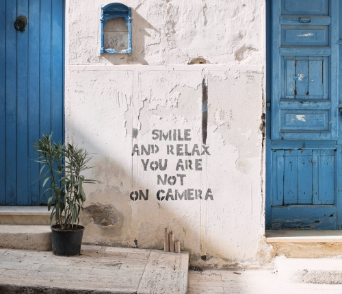 smile and relax: no cctv here!
