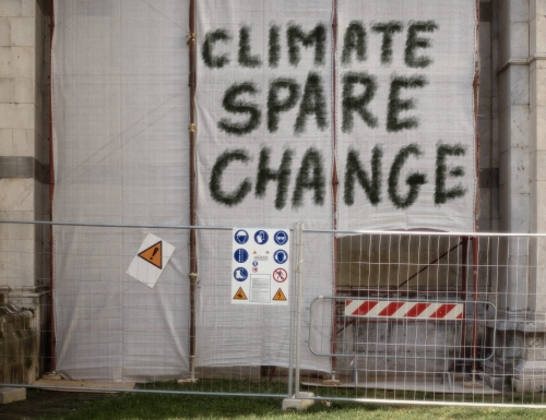 climate (spare) change - irony and satire
